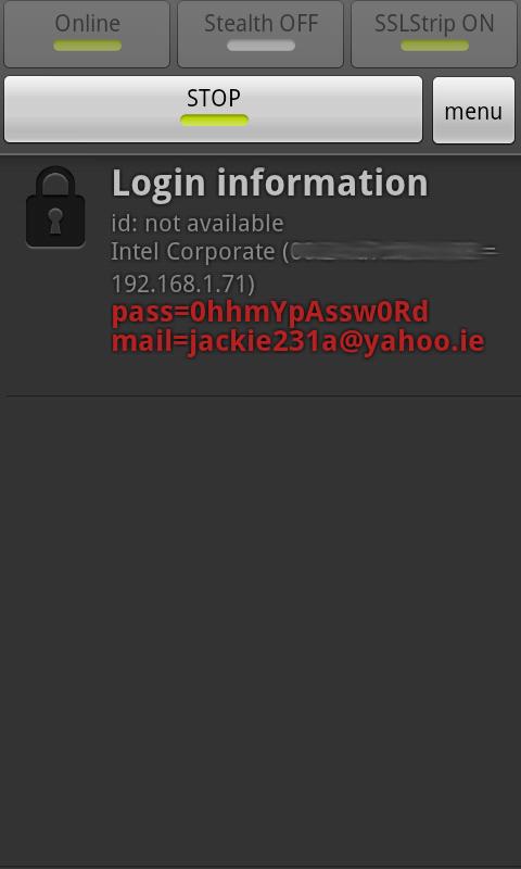 Android Apk Download: FaceNiff 2 4 apk Cracked passwords un masked