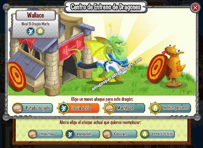 imagen de los ataques del dragon marte