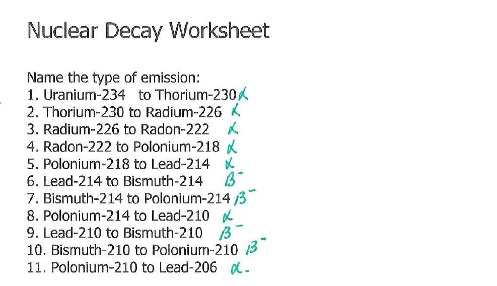 Y10 Igcse Physics Radioactivity Worksheet answers – Nuclear Decay Worksheet Answers