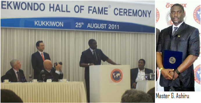 MASTER GEORGE ASHIRU ADDRESS AT THE TKDHOF