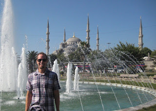 The six minarets of the Blue Mosque.