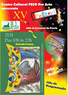 Centro Cultural Feso Pro Arte de Teresópolis apresenta XV PoÊterÊ