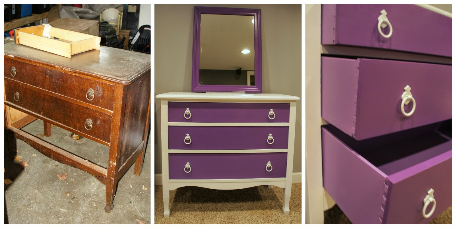 stunning Purple Chalk Paint Furniture Part - 16: These dressers turned out AWESOME but they were certainly no walk in the  park! Dianeu0027s recipe was used for the white paint in both of the dressers.