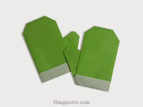 Cách gấp, xếp cái Găng tay bằng giấy origami - Video hướng dẫn xếp hình đồ thời trang - How to fold a Gloves