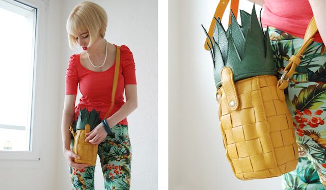 pineapple handbag, asos, fruits in fashion
