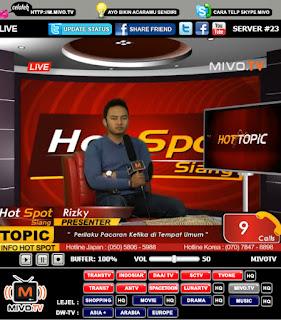 TV Online Streaming MivoTV-Cara Buat-Pasang-Tampil-Blog-Web-Situs