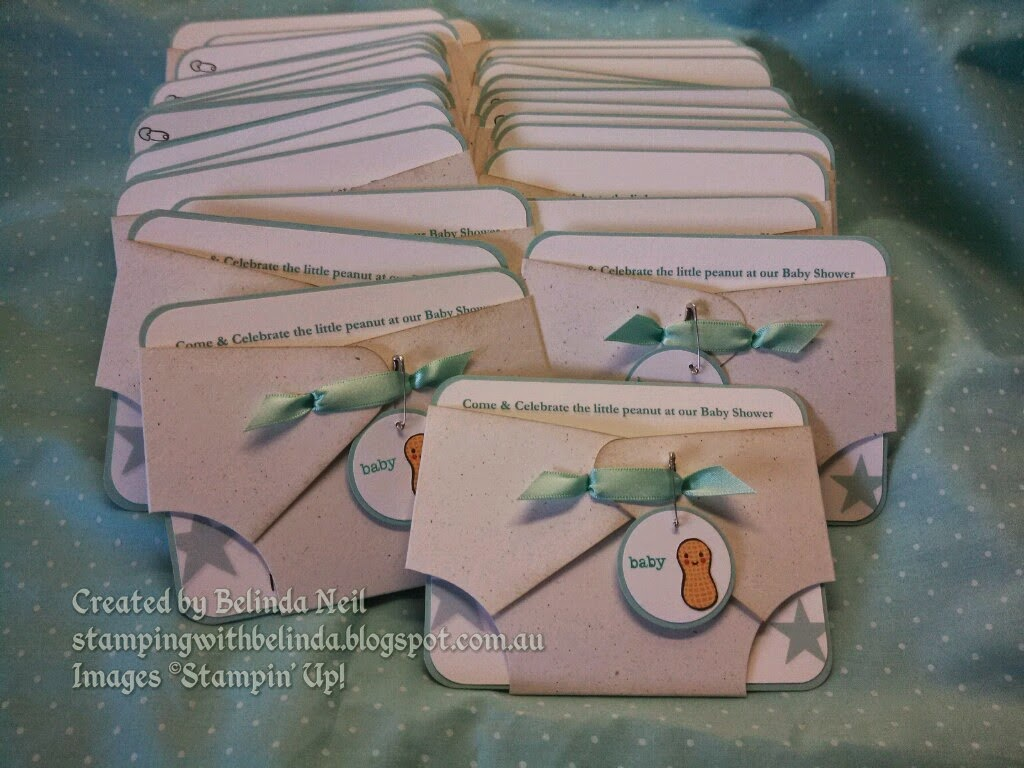 Stampin it up with belinda nappy baby shower invitations side start with a sheet of a4 cardstock cut at 8 14 filmwisefo