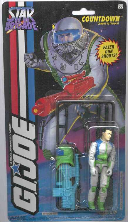 1994 Star Brigade Countdown, Wave 2, Carded, MOC