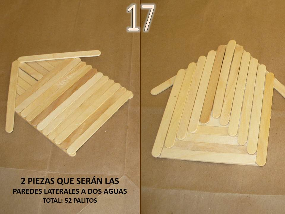 Con tus propias manos como hacer una casita alcancia con palitos de helado de madera - Como se hace una casa de madera ...