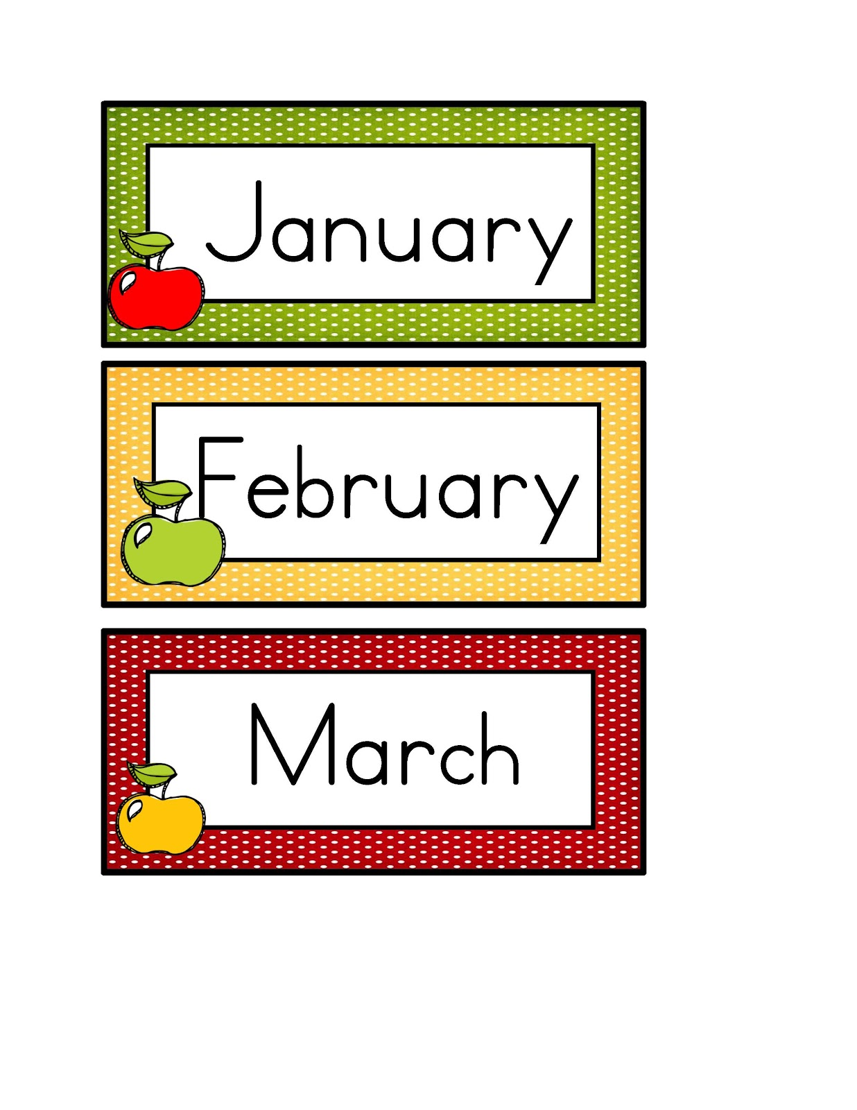 The gallery for --> Printable Months Of The Year Labels