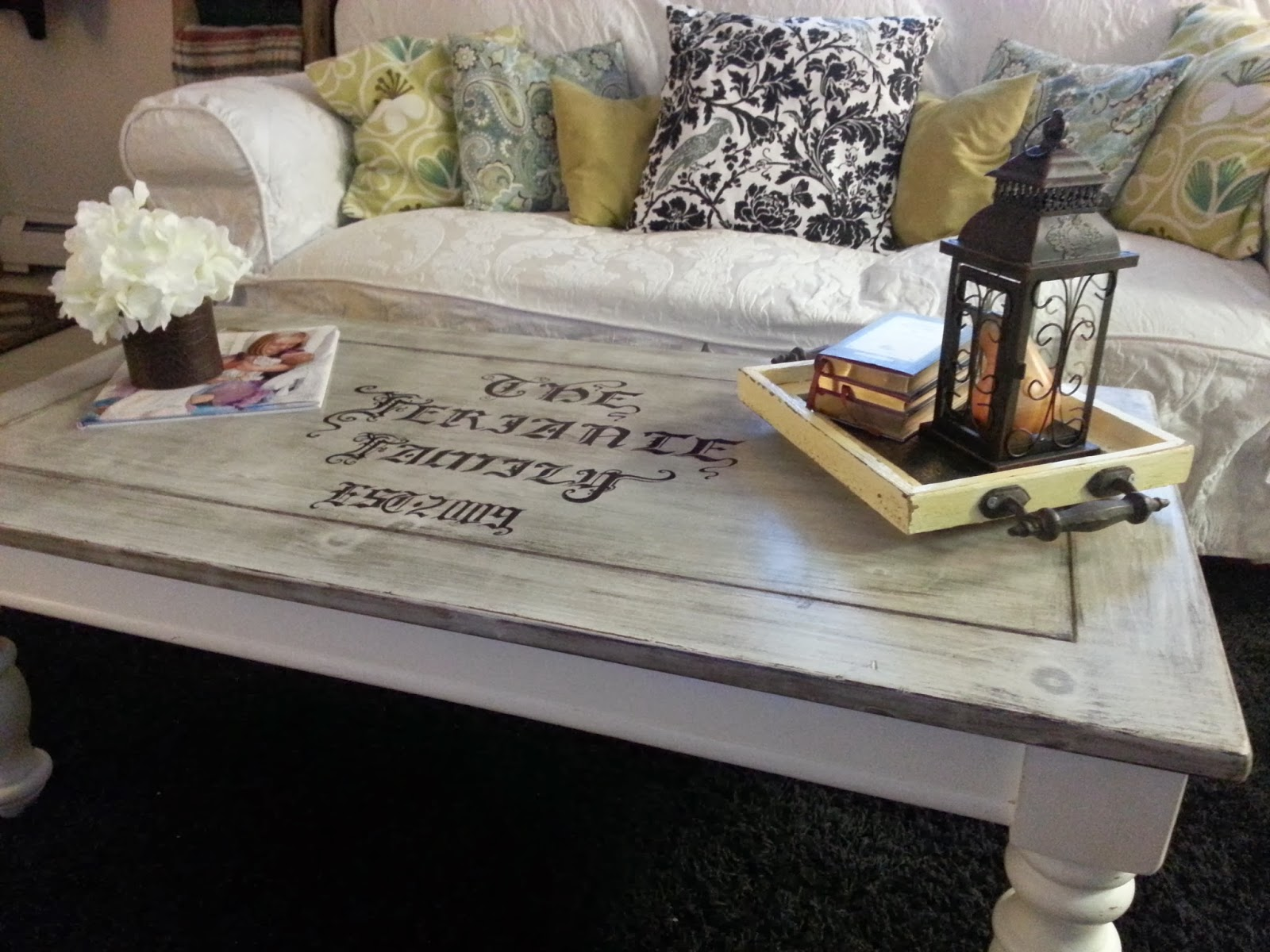 Freckles N Family Coffee Table Makeover