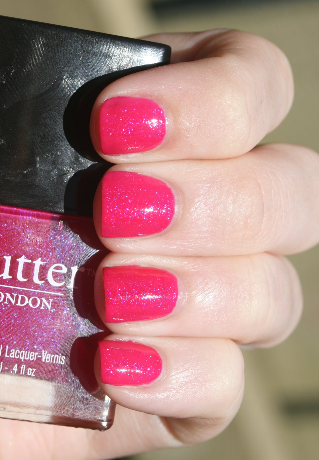 Butter London Disco Biscuit over NARS Schiap swatch