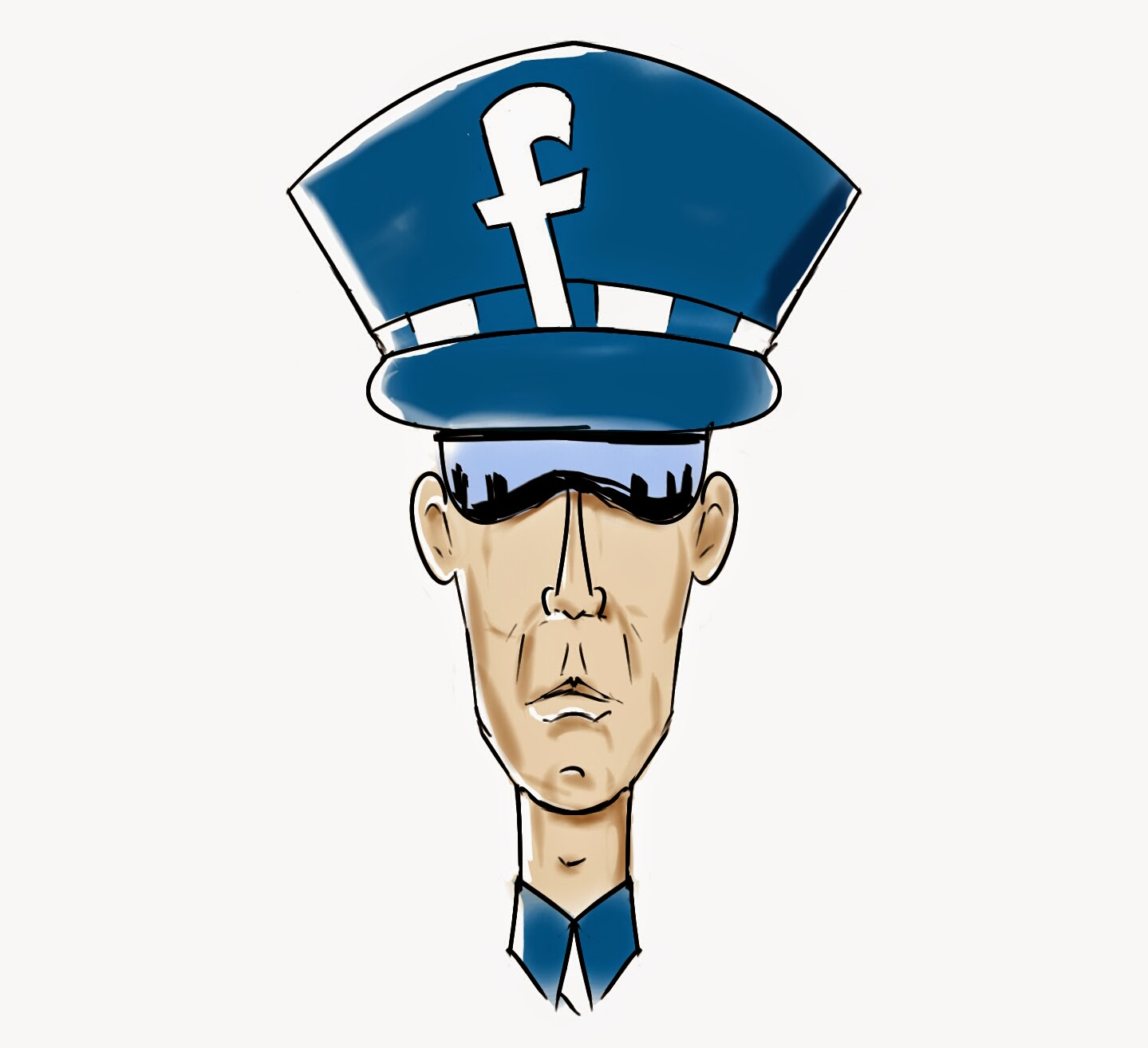 illustration of a police officer with an 'f' on his hat