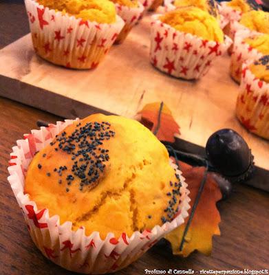 muffin salati alla zucca - scampoli d'autunno
