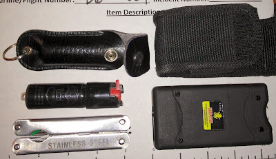 Pepper Spray, Multi-tool, and Stun Gun all Discovered in a Passenger's Bag at BDL