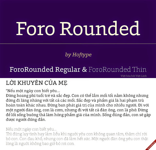 [Slab Serif] Foro Rounded Regular & Thin Việt hóa