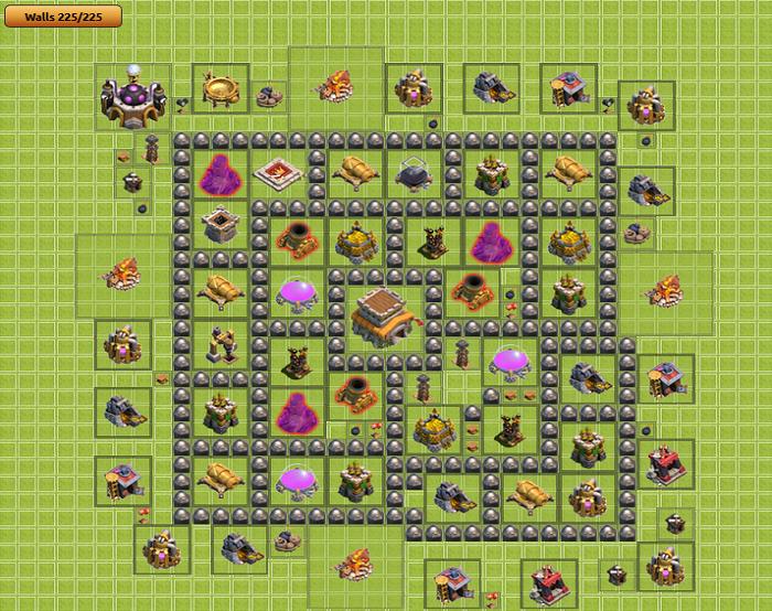 layout de defesa cv8 clash of clans dicas clash royale dicas