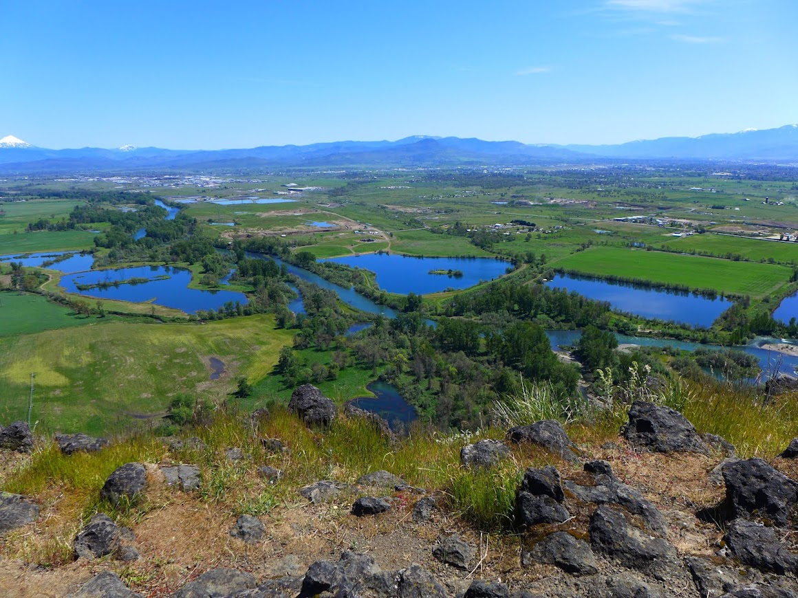 View of the Rogue River & Rogue Valley from Lower Table Rock plateau