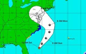 Hurricane Sandy Storm - Proposed trajectory 10-28-2012