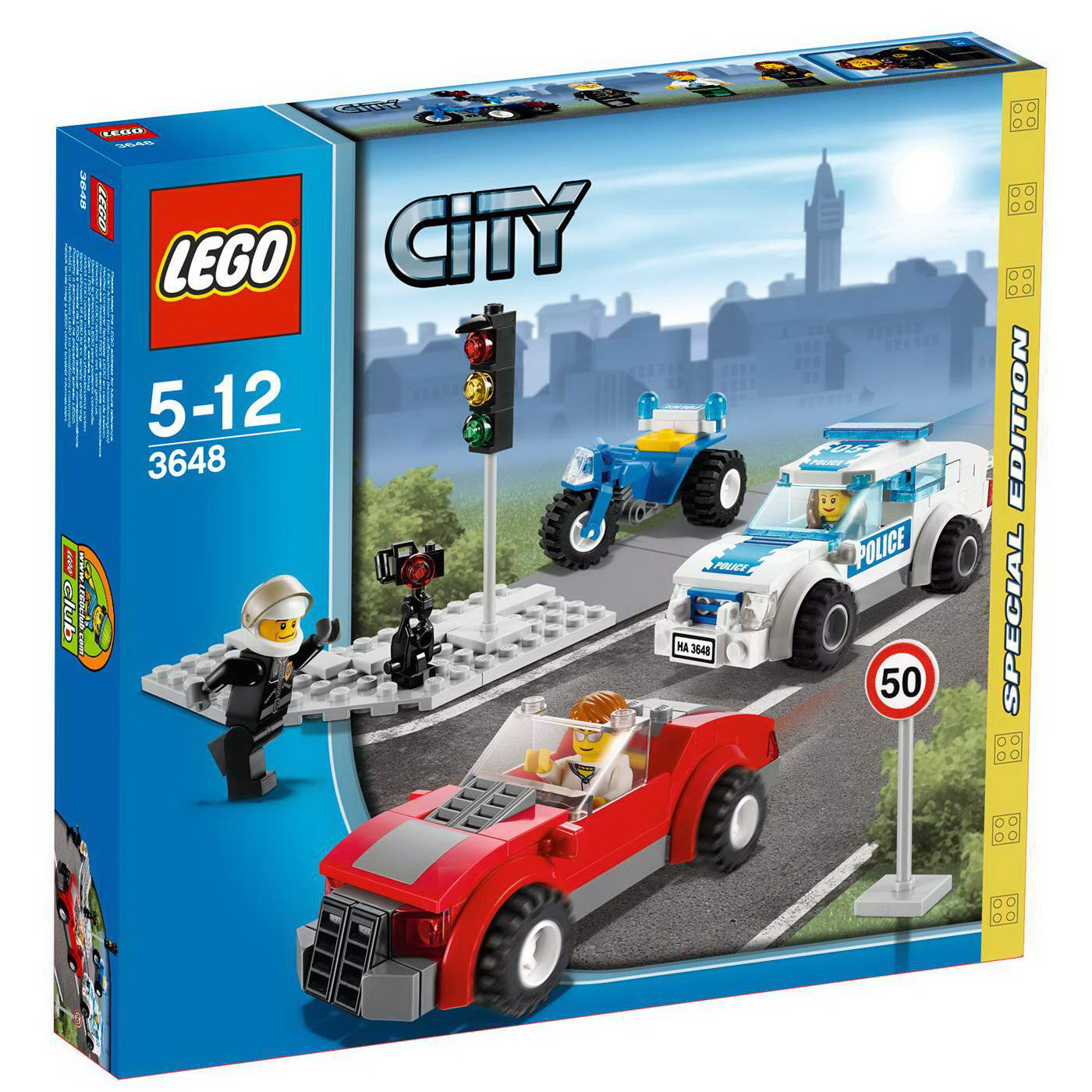 onetwobrick6 lego set database set database lego 3648 police chase. Black Bedroom Furniture Sets. Home Design Ideas