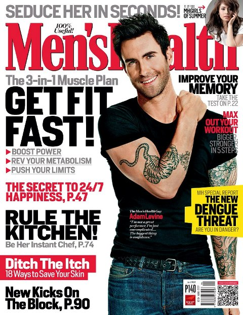 Adam Levine Covers Men's Health April 2013 issue