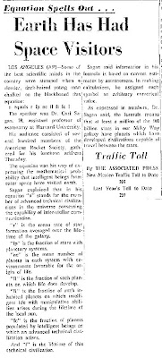 Earth Has Had Space Visitors - The New Mexican 11-16-1962
