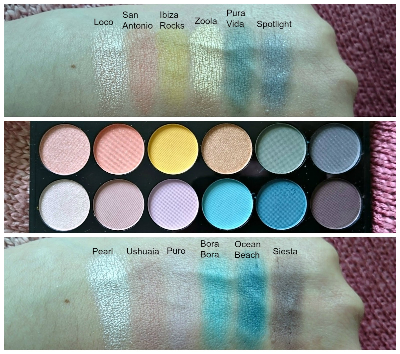 Sleek Del Mar vol.II palette-swatches