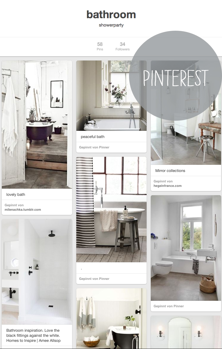 Pinterest-Inspiration für's Bad