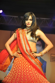 Adah Sharma Sizzles in Lovely Red Saree Ramp Walk