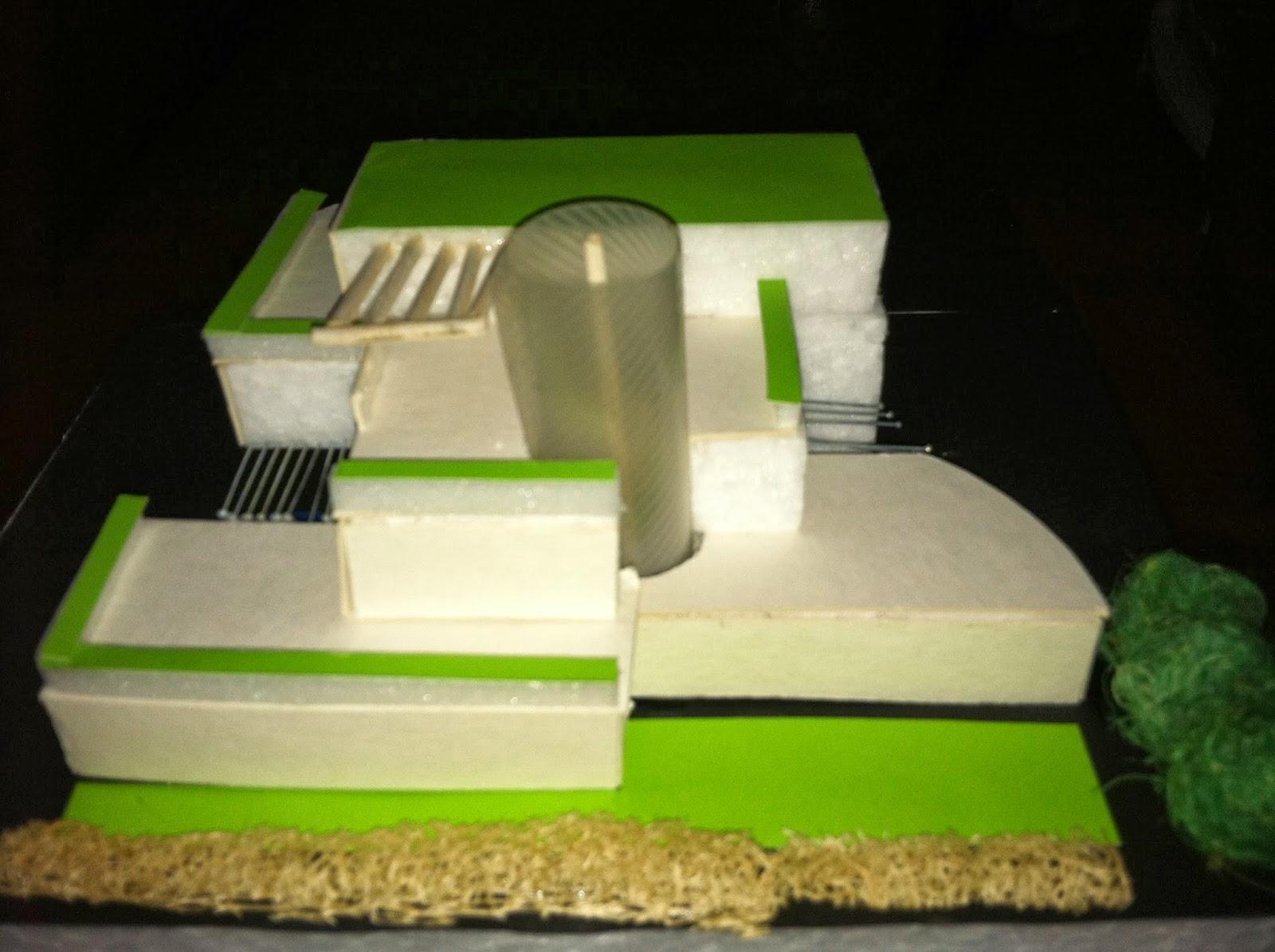 Arquitectura organica maqueta volumetrica for Maquetas de jardines