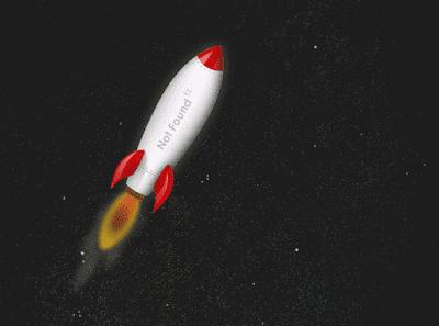 animasi roket error 404