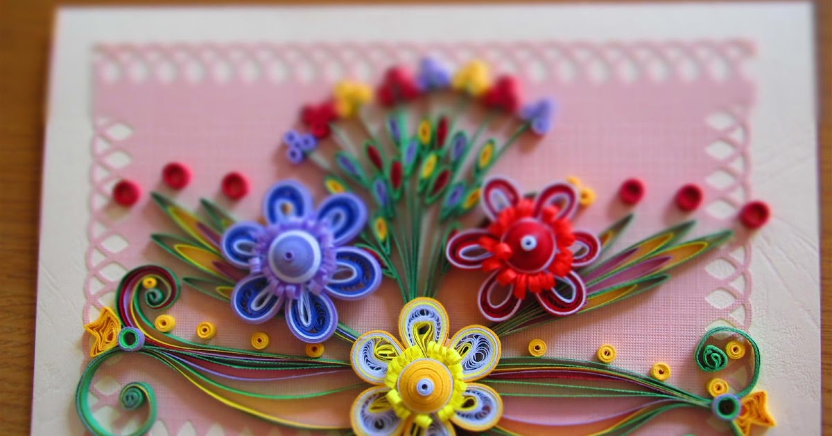 Quilled card - Dazzling colours