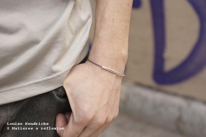 Bracelet Homme argenté Louise Hendricks