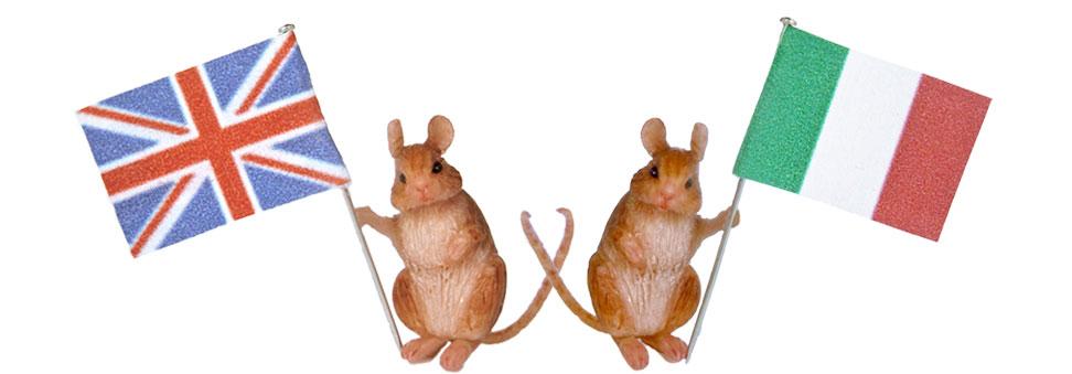 flag-bearer mice, miniature by Celidonia