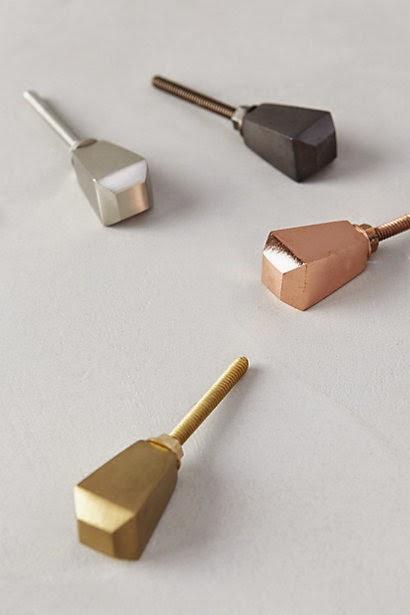 metallic shaped knobs