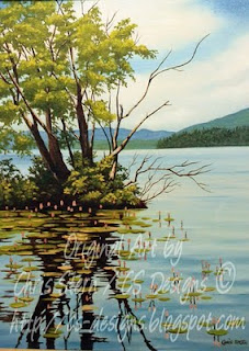 Chris Stern CS Designs Deka Lake bc Oil Painting