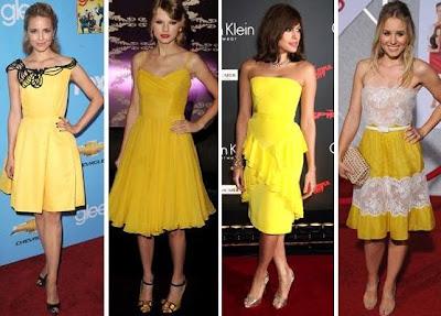 Fotos de Vestidos de Amarelos