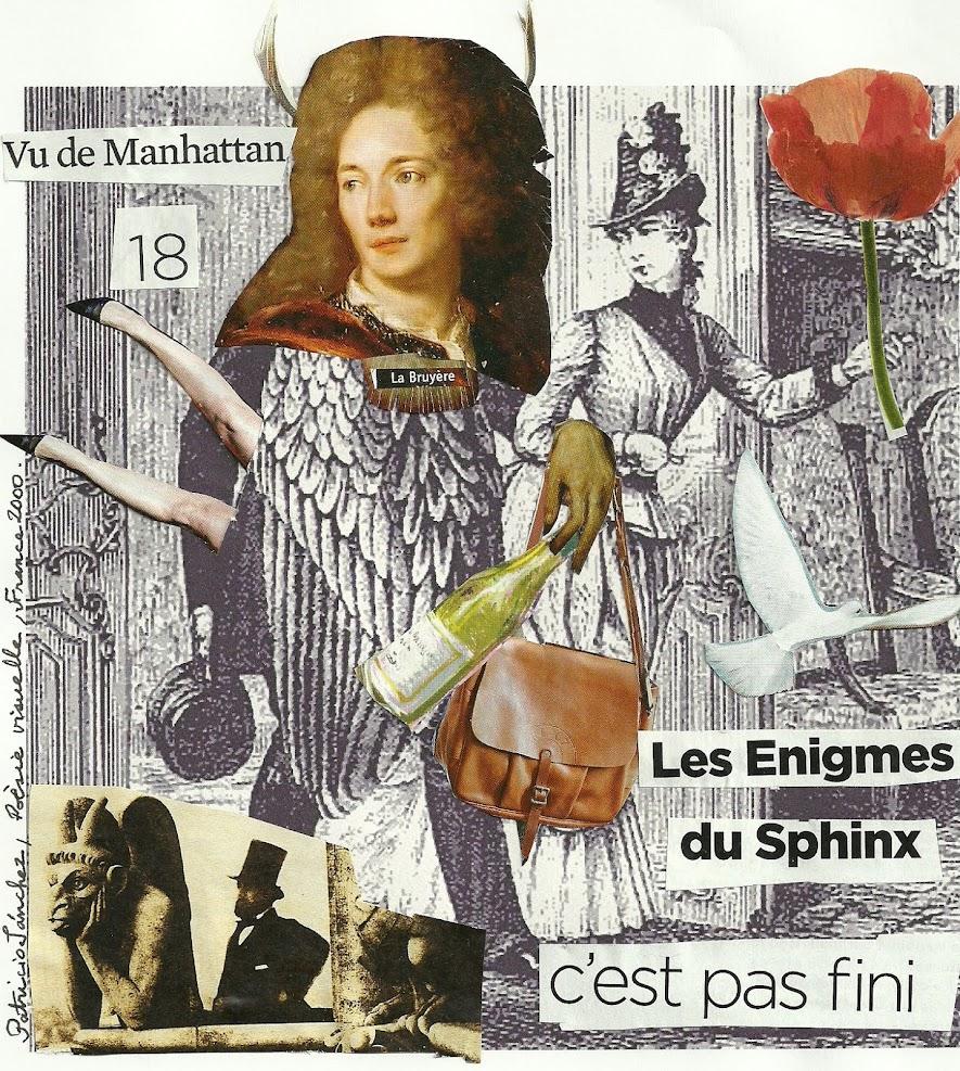 Poésie visuelle - Les Enigmes du Sphinx, Patricio Sanchez, France, 2000.