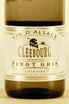 Cave de Cleebourg Pinot Gris bottle label, front