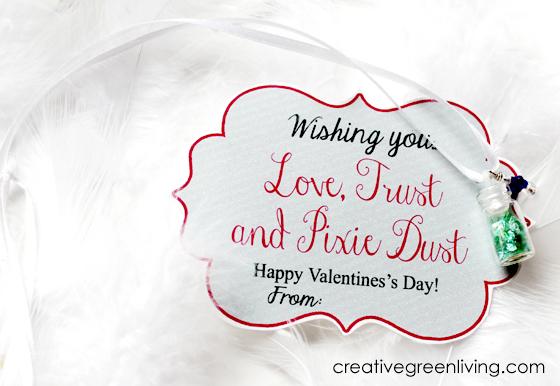 love, trust, pixie dust printable valentine necklace