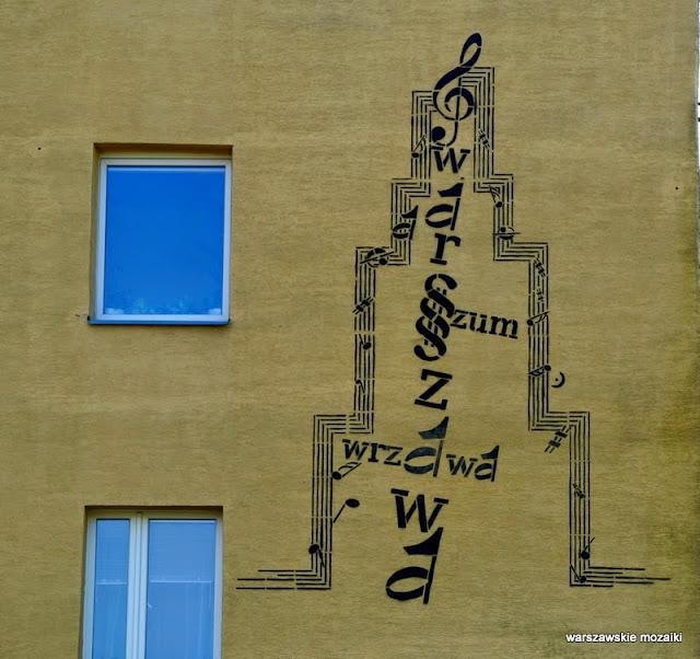 Warszawa Ursynów Nutki warszawskie murale