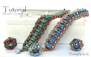 """Tutorial - Bracelet and Beaded Bead """"Balrade"""" by PrettyNett.de"""