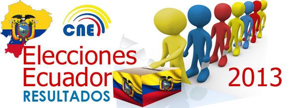 Resultados Elecciones Ecuador 2013 CNE datos Oficiales Presidente VicePresidente  Asambleístas Nacionales Asambleístas Provinciales Parlamentarios Andinos