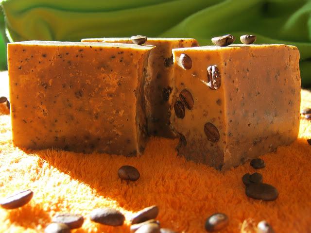 Jabón de café exfoliante