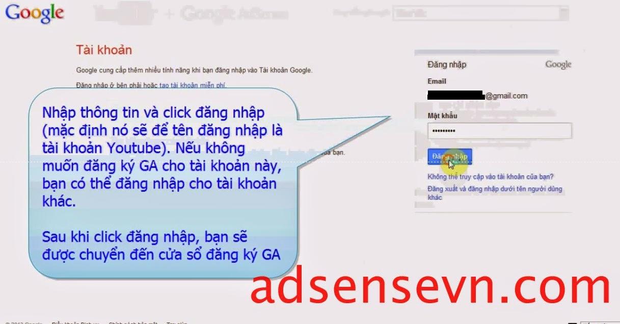 Hướng dẫn đăng ký tài khoản adsense thông qua youtube