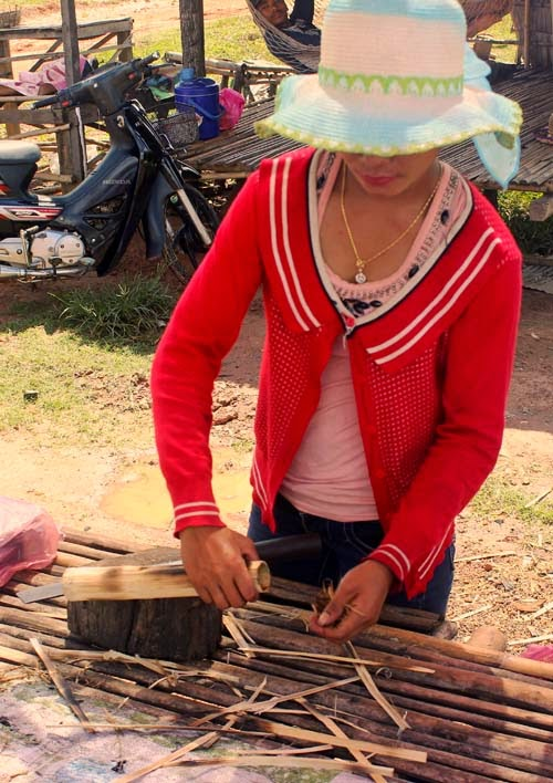 Cambodian rice seller