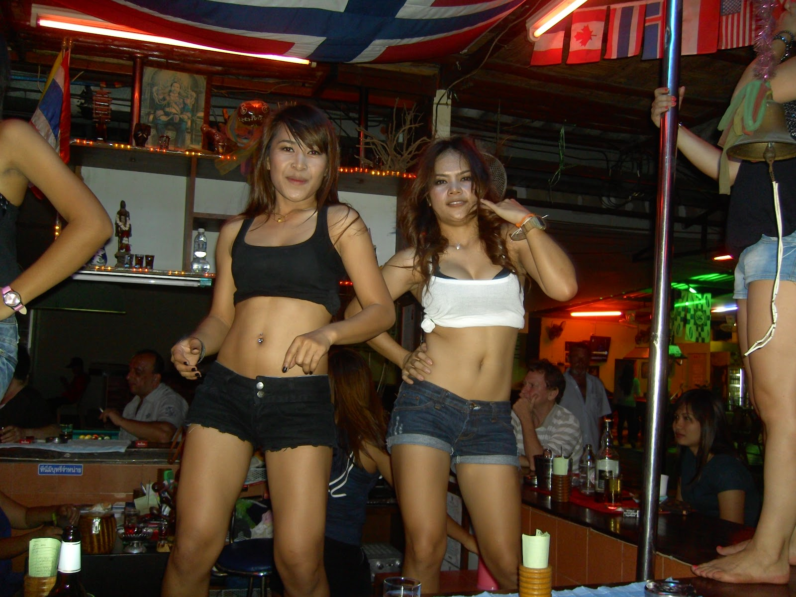 girls in a bar