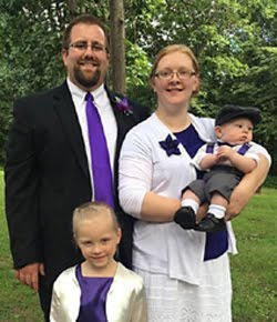 Tim and Brenda Albertson,  Charissa Joy (4), and Felix Timothy (born Feb. 19, 2016)