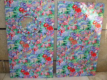 Conj. de telas revestida a tecido - 41x61cm cada