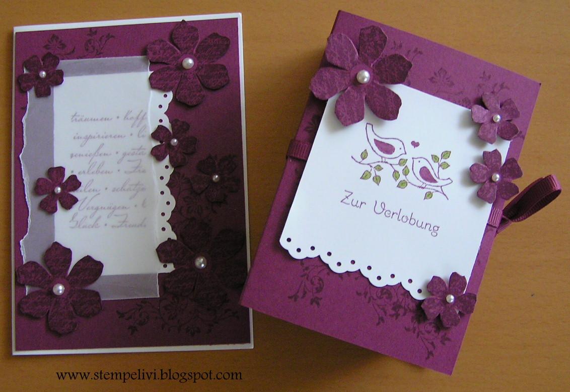 Stempelivi: Geschenk zur Verlobung mit Karte...